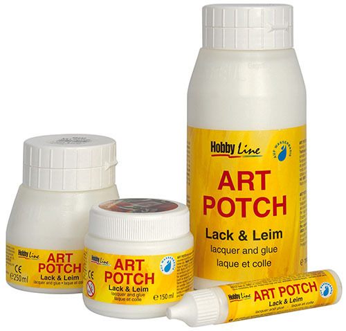 serviettenkleber art potch lack leim 750ml ebay. Black Bedroom Furniture Sets. Home Design Ideas